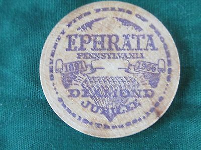 Ephrata, PA Commemorative Wooden Nickle - Dated 1966