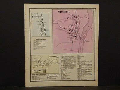 New York, Broome County Map, 1866, Windsor, Kirkwood, Yorkshire, Y5#12
