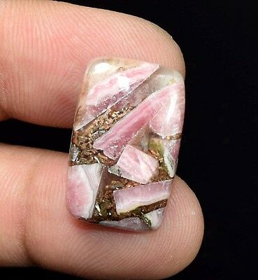Excellent !  15.95 Cts. Natural Copper Rhodochrosite Cushion Cab For  Pendant