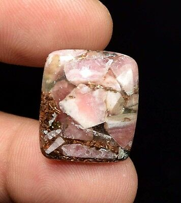 Excellent !  18.65 Cts. Natural Copper Rhodochrosite Cushion Cab For  Pendant