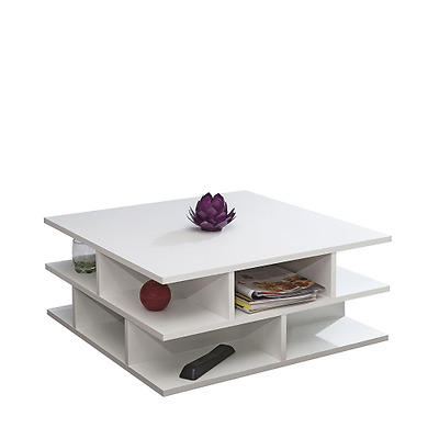 Symbiosis 2130A2100X00 Contemporain Table Basse Multicases Blanc 70 x 70 x 28,9