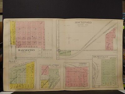 Nebraska, Gage County Map Barneston, Rockford Virginia Township 1906 J4#84