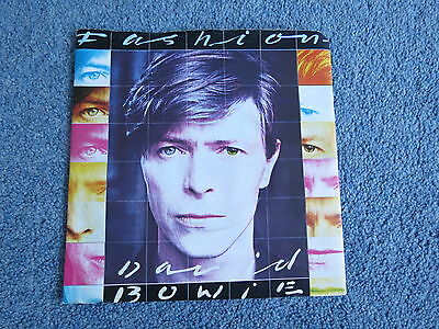 "DAVID BOWIE - Fashion - Original 1980 UK 7"" vinyl single with solid centre  p/s"