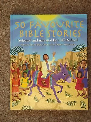 """CLIFF RICHARD """"50 Favourite Bible Stories"""" hardback with 3 CDs"""