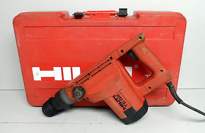 Hilti TE 52 Rotary Hammer Drill Used With Bits And Case concrete Demoliltions