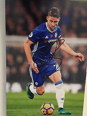 Gary Cahill Chelsea Fc Blues Hand Signed 12X8 Photo