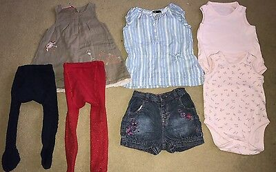 Bundle Of Baby Girls Clothes 6-12 Months (7 Items)