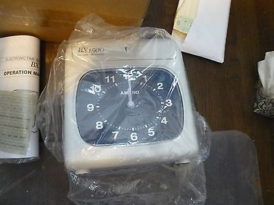 new Amano BX-1500/2663  Electronic Time Rec. Black Face