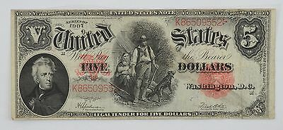 1907 Five Dollar Legal Tender Large Note Red Seal FR# 91 *P77