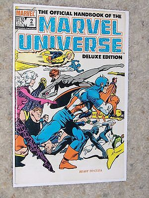 The Official Handbook Of The Marvel Universe Deluxe Edition #2 (1985) Vf-