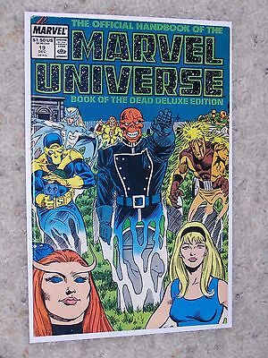 The Official Handbook Of The Marvel Universe Deluxe Edition #19 (1987) Vf-