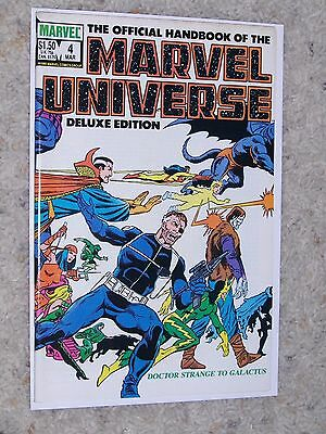 The Official Handbook Of The Marvel Universe Deluxe Edition #4 (1985) Vf-