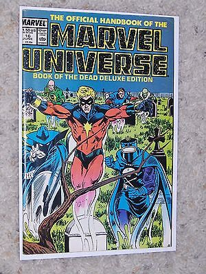 The Official Handbook Of The Marvel Universe Deluxe Edition #16 (1987) Vf-