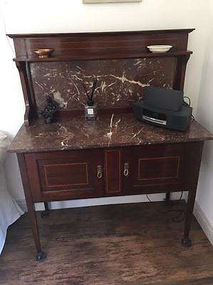 Antique Victorian Mahogany Marble Washstand / Dressing Table