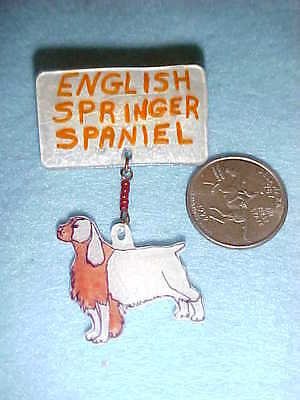 ENGLISH SPRINGER SPANIEL PIN - Handmade Unique Dog Jewelry - New - DOGS