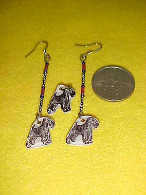 LAKELAND or AIREDALE TERRIER DOG Pierced Earrings - Handmade Animal Jewelry SET