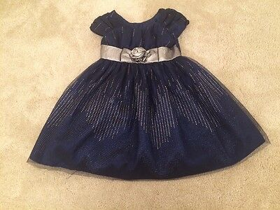 girls 4years navy blue party dress