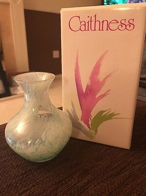 Caithness glass vase With Box