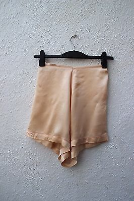 vintage cami knickers sissy shorts 1920s 1930s peach silky lingerie medium