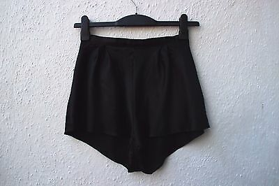 vintage cami knickers black silky sissy tap pants St Michael size 12
