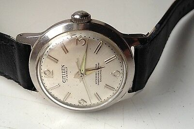 Mens Vintage Citizen Manual Wind 17 Jewels Water Protected Working Watch