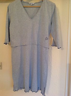 Carriwell Maternity Nightdress Blue Size S/M