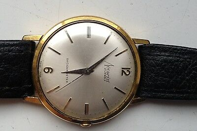 Mens Vintage Accurist Shockmaster Gold Plated Swiss 21 Jewels Working Watch