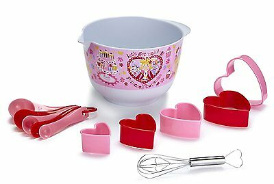 Cooksmart Kids Princess Cupcake 12 Piece Mixing Bowl Set Kids Childs Cooking Bak