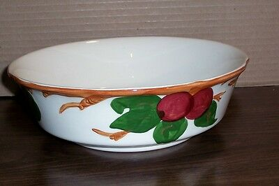 "Franciscan Round Fruit / Vegetable Bowl Apple Pattern  8.5"" X 2.5""  Made In Usa"