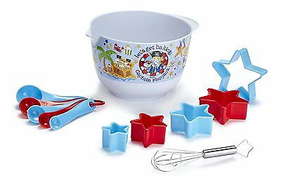 Cooksmart Kids Captain Flapjack 12 Piece Mixing Bowl Set Kids Childs Cooking Set
