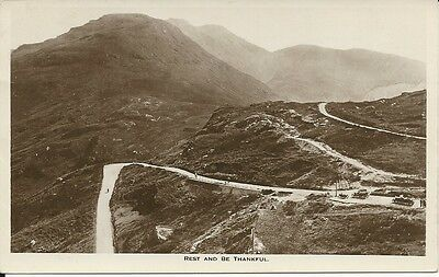Vintage RP postcard of Rest and be Thankful, Argyllshire