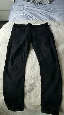 black topshop maternity jeans leigh size 10