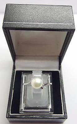 925 Sterling Silver ring Freshwater Cultured Pearl Ring Size M 1/2 UK 6.5 US #Y1