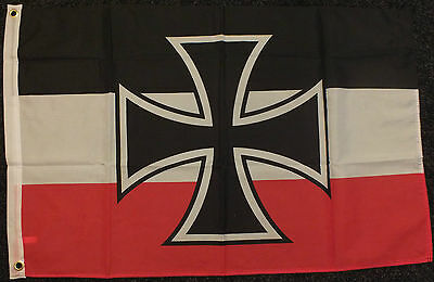 WWI Navy Imperial 5x3 Flag WW2 German Oi Nationalist WW1 Iron Cross Deutsche bn