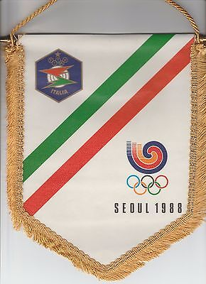 Orig.pennant    Olympic Games SEOUL 1988  // Team Italy  !!  VERY RARE