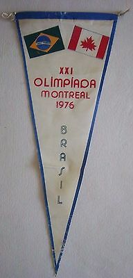 Orig.pennant    Olympic Games MONTREAL 1976  // Team BRAZIL  !!  VERY RARE
