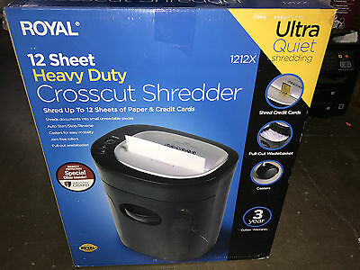 Royal Ultra Quiet 1212X 12 Sheet Heavy Duty Crosscut Shredder