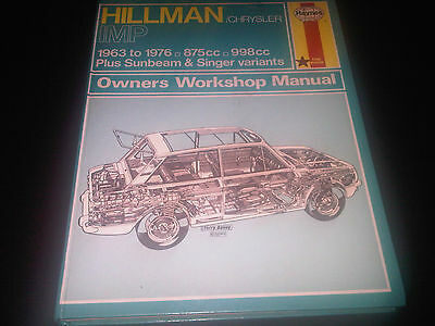 Hillman Chrysler Imp Singer Chamois Stiletto Husky Haynes Owners Workshop Manual
