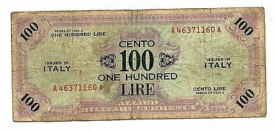 Italy Allied Military 100 Lire 1943A