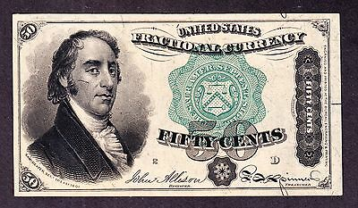 US 50c Fractional Currency Note FR 1379 Ch CU