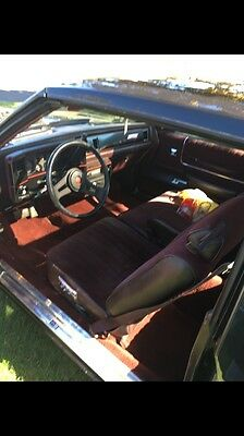 1987 Chevrolet Monte Carlo SS Classic Vintage 1987 Chevrolet Monte Carlo SS