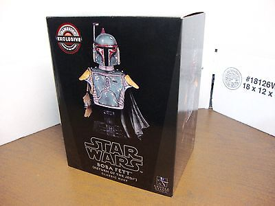 Star Wars Boba Fett Return of the Jedi Classic Bust Gentle Giant With , NEW