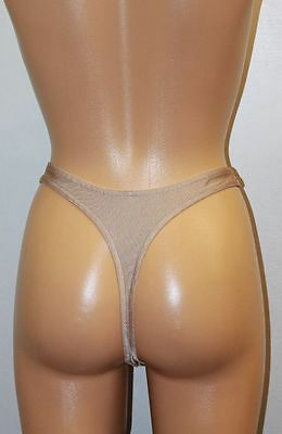 Color Tan Spandex Women's Underwear G-String Panties Choose Your Size S M or L