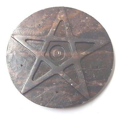 """3"""" PENTAGRAM ALTAR Tile & Cone Sage Burner Wiccan Witch Pagan FREE SHIPPING !"""
