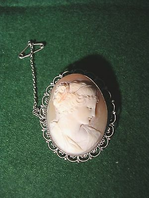 A Silver Mounted Cameo Brooch.
