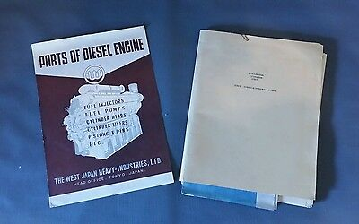 West Japan Heavy Industries Tokyo Diesel Engine WWII Documents Pamphlet Airforce