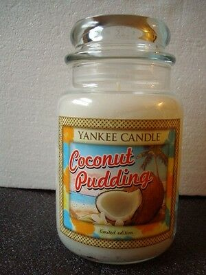 Yankee Candle  Coconut Pudding Jar Candle  22Oz   ~New~