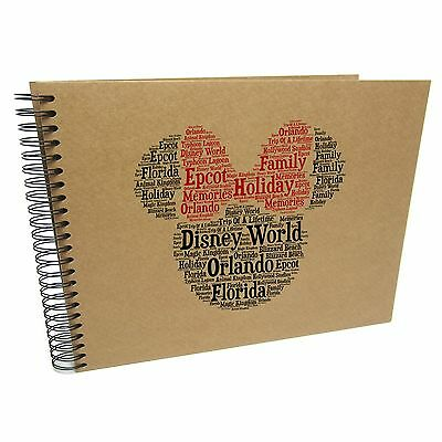 Personalised A3/A4/A5/Square Disney Word Scrapbook Photo Album, Memory Gift