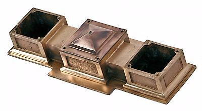 Cast Bronze Nyc Subway Station Ceiling Mount Double Light Pendant