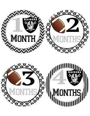 Oakland Raider Baby Milestone Stickers ~ Baby Belly Stickers (310)